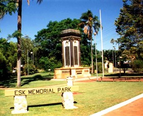 Esk War Memorial and Esk Memorial Park - Accommodation Burleigh