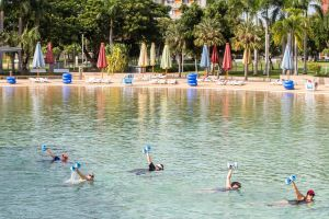 Aqua fitness in the Wave Lagoon - Accommodation Burleigh
