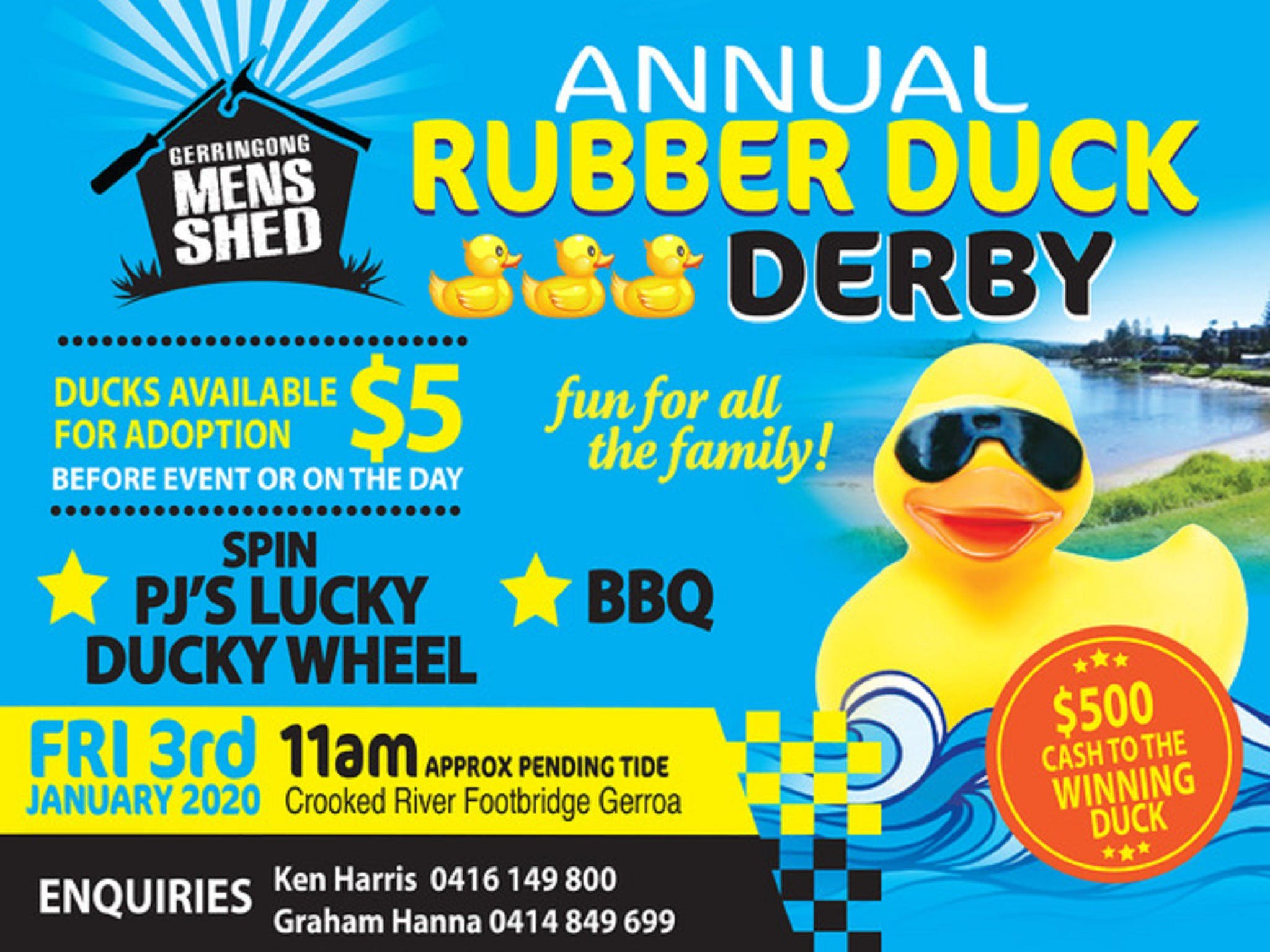 Gerringong Mens Shed Annual Duck Derby - Accommodation Burleigh